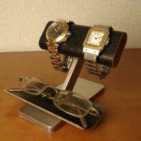 バースデープレゼント ブラックコルクだ円パイプ腕時計、眼鏡スタンド No.111226