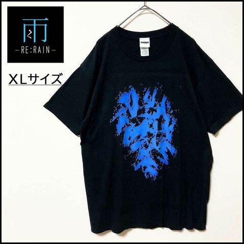 メンズ服新品グラフィック半袖TシャツXL 黒青 ブランド モード系 デザイン