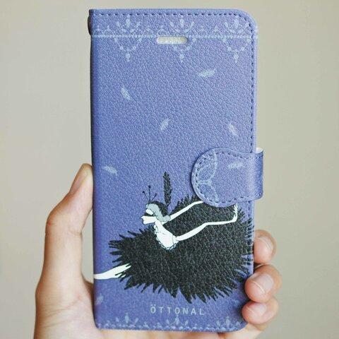 黒鳥 iPhone用手帳型スマホケース