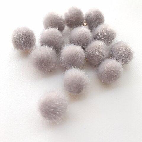 8個  【AW-5-7】グレー  秋冬素材 ファーボール    ポンポンボール  ファーチャーム