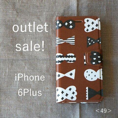 【 outlet sale ! 】iPhone 6Plus *帯あり手帳型*スマホケース<49>