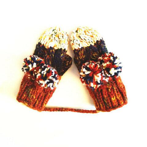 【受注生産】【Lady's】ほっこりあたたか冬手袋 NO:001
