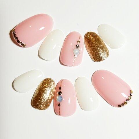 Sheer Color Nail Pink×White