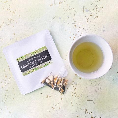 CANTIK-MANISオリジナルブレンド緑茶・甘橙の緑茶(オレンジグリーンティー)ティーバッグ15袋【クリックポスト送料無料】