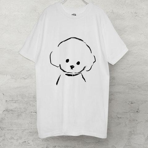 トイプードル  Tシャツ (ホワイト)犬