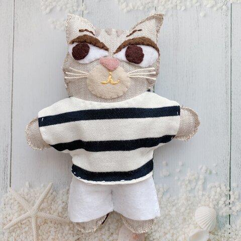 ねこ♡おしゃれぬいぐるみ♡トラ猫のガブリエル