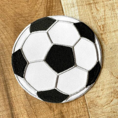 【大きい】サッカーボール アップリケ (PM-Soccer ball)