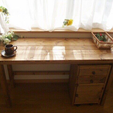 『Handmade』∵作業台∵ミシン台∵学習机∵無垢デスク【w1100】♪
