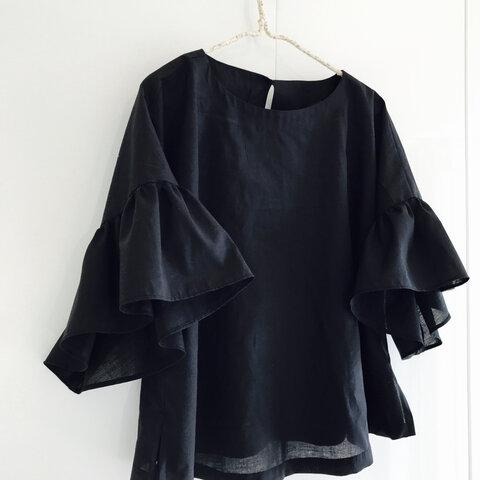 黒白ベージュ ドルマンふんわり袖