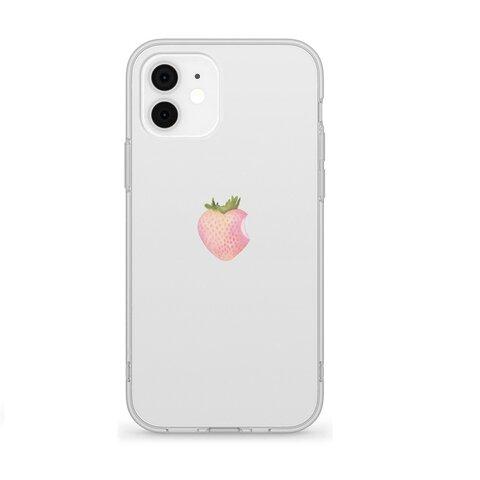 リアル白いいちご 13 12 SE 11 XS XR 8 7 iPhone ケース