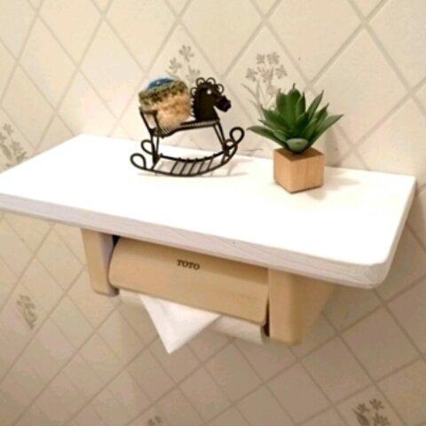 5色選びの厚板 トイレシェルフ  棚 DIY簡単取り付け‼