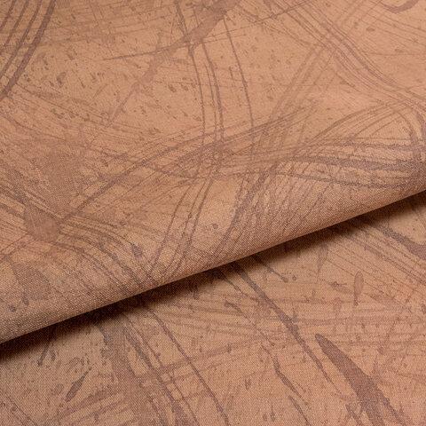 【オリジナル・108×100cm】カットクロス 柿渋染め手描き[日本製]綿スラブ織キャンバス[起毛加工仕上げ] VY5KS-h1