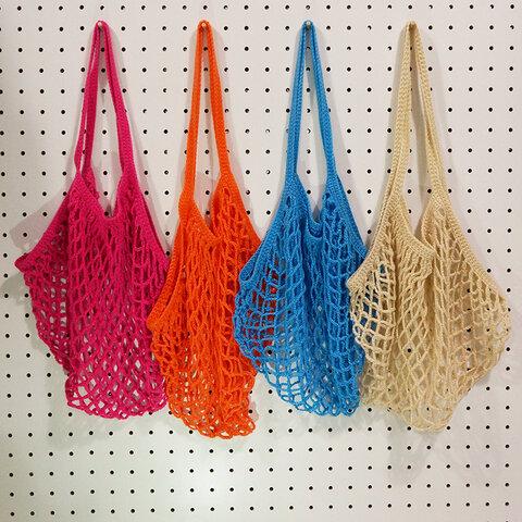 ネット編みのエコバッグ