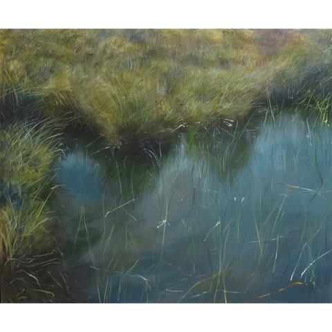 油絵原画「湿地」