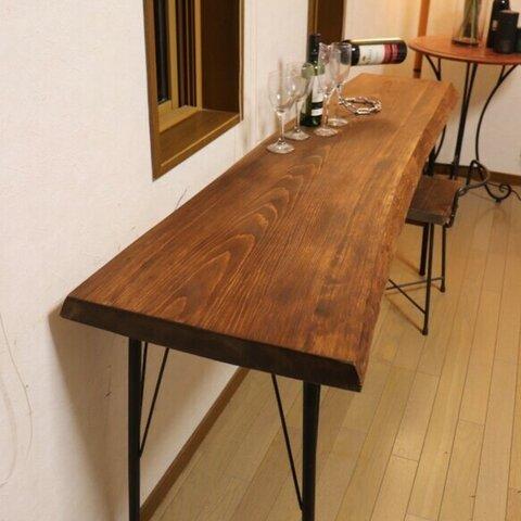 目玉品 w1640 ヒノキ一枚板 カウンターテーブル ダイニングテーブル お店 店舗什器 テレワーク 在宅勤務 カフェ
