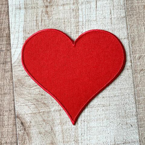 【大きい】ハート アップリケ (PM-Heart)