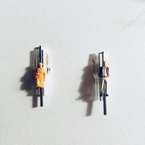『MAN&WOMAN』スティックパーツのジオラマイヤリング