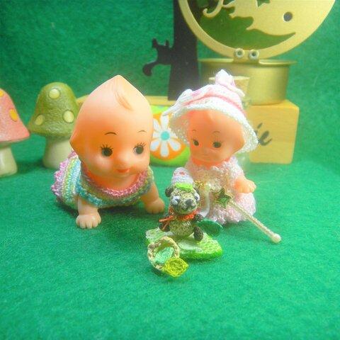 🌼1点ものです🌼 🌠3.5㎝キューピー人形はオプションで選択してください🙇 キューピーちゃんの服セット 「🌠魔法使いキューピーちゃん💖」