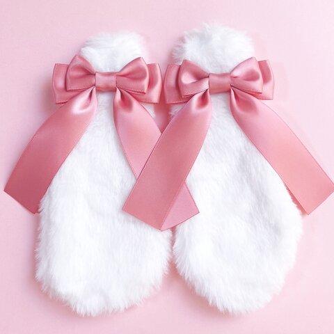 うさ耳リボン♡桃色ピンク 量産型 地雷系 コスプレ メイド服 ヘアアクセサリー ヘアクリップ 病みかわいい ゆめかわいい ロリータ ふわふわ プレゼント ギフト うさぎ ウサギ 垂れ耳 プレゼント
