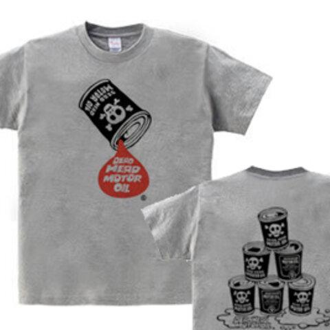 【再販】骸骨モーターオイル  WM~WL•S~XL Tシャツ【受注生産品】
