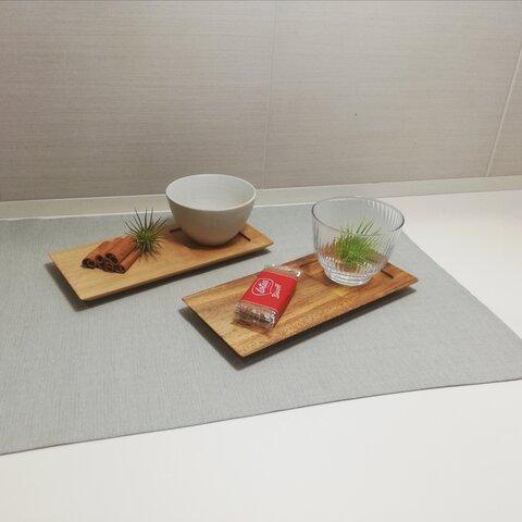 現品一点物!小さなおやつが乗せられるコースター☆2個セット☆     コースター トレイ 無垢 お茶 お菓子 木のお皿