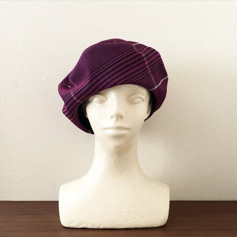 新作‼️カタチにこだわるベレー帽 クラシカルピンクチェック
