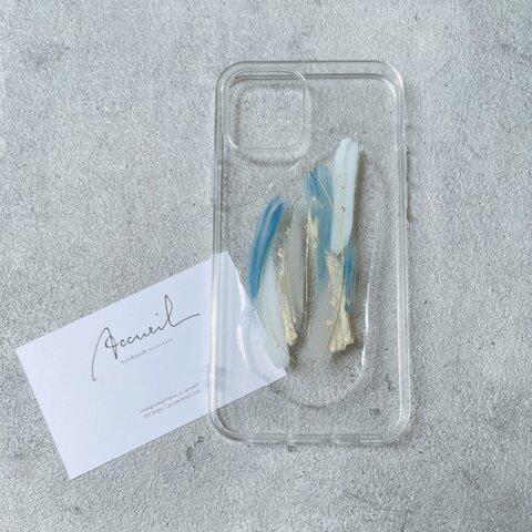 ニュアンスデザインケース【くすみブルー】iPhone13シリーズ対応!!/iPhone12シリーズ/ iPhone11 iPhoneX など