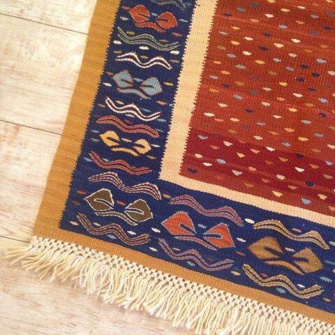 送料無料✳︎ 約1.9畳 手織り キリム ハンドメイド ラグ
