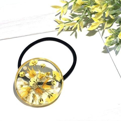 【再販】黄色いお花のヘアゴム
