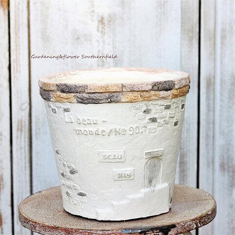 ガーデニング雑貨 鉢 グラスファイバー ユヌニュバンヌサークルS テラコッタ調ナチュラルおしゃれ
