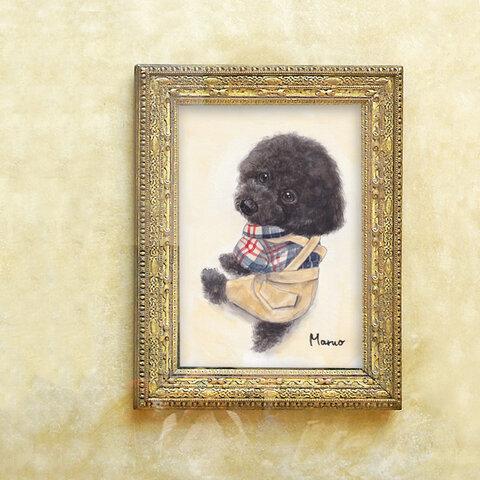 うちの子の肖像画*イラスト*オーダー*ペットさん似顔絵