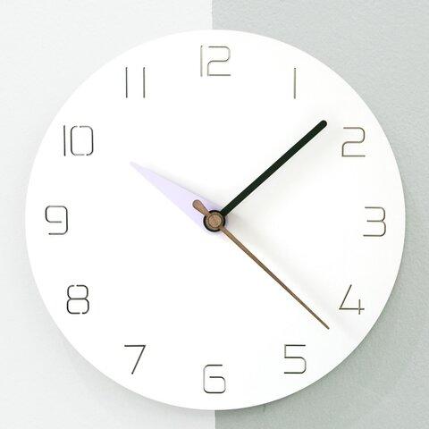 壁掛け時計 3 modern colors - purple