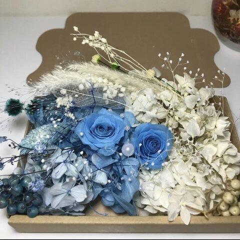 夏のブルー*ハーバリウム 花材ドライフラワー  花材セット
