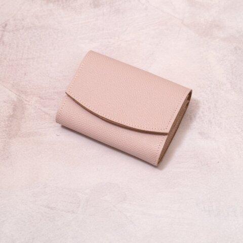 ◎お買い得◎コロンとしたモーブピンクのミニ財布