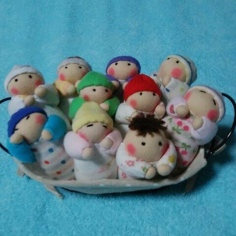 赤ちゃん人形の容器入り(10個入り)