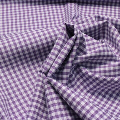 ギンガムチェック #221 紫色、110㎝幅×50㎝