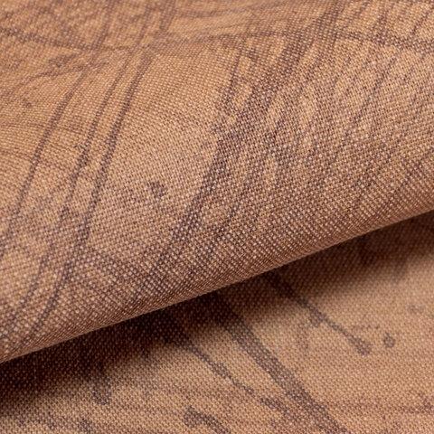 【オリジナル・108×50cm】カットクロス 柿渋染め手描き[日本製]綿スラブ織キャンバス[起毛加工仕上げ] VY5KS-h05