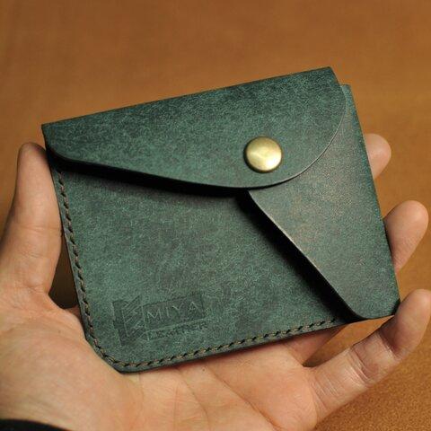 薄くて便利な小さい財布 1 SNAP WALLET プエブロレザー 革