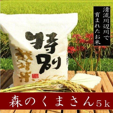 新米特別栽培米森のくまさん5kg 熊本県相良村産 令和3年産 精白米