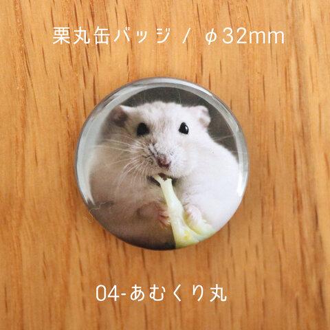 栗丸缶バッジ(32mmタイプ)【04-あむくり丸】