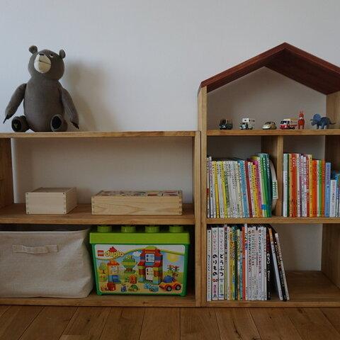【本棚2台セット】絵本棚お家の絵本棚(鉛筆型)&オープンボックス