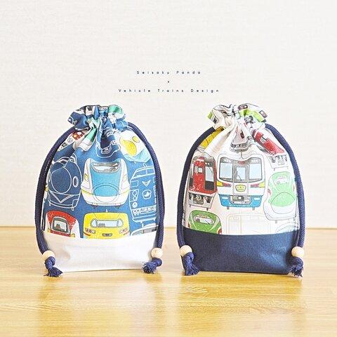 .・. コップ入れ巾着袋 いろんな電車 design .・. #入園入学 #子供 #ギフト #幼稚園 #小学生 #保育園 #男の子