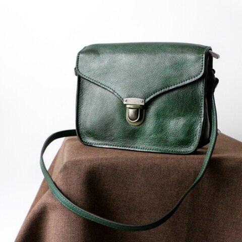レトロな手染めカラー牛革ショルダーバッグ斜め掛けポシェットバッグ
