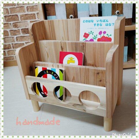 絵本棚 本棚 ✨ ブックシェルフ 木製ハンドメイド
