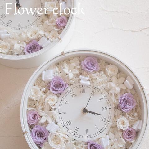 プリザーブドフラワー☆ブライダルにぴったりな花時計☆