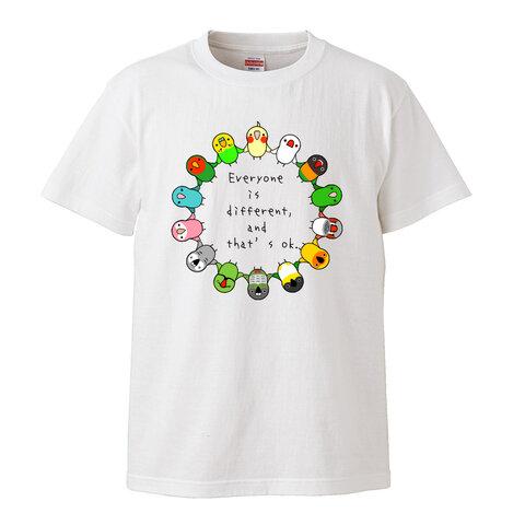 【夏のTシャツセール】みんな違ってみんないいTシャツ【サイズ女性M】