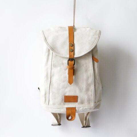A4サイズ対応帆布&牛革リュックサック通勤バッグ