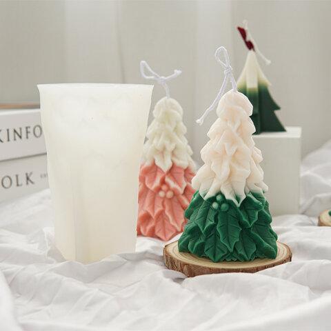 1p Nart Candle クリスマスツリーのモールド シリコンモールド キャンドルモールド クリスマス 樹