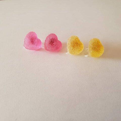 キャンディ風ノンホールピアス(ピンク)