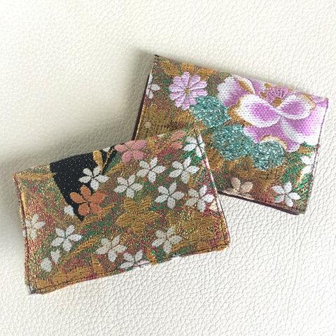 帯リメイク 名刺入れ カードケース【牡丹 BOTAN】